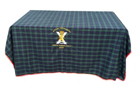 Personalised Government Tartan Desk Cloth